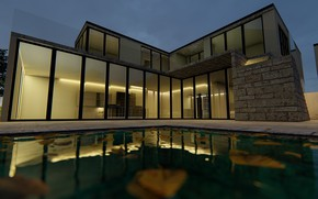 Картинка дизайн, бассейн, архитектура, строение, ARCHVIZ