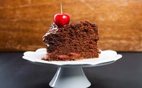 Картинка пирожное, крем, сладкое, шоколадная глазурь