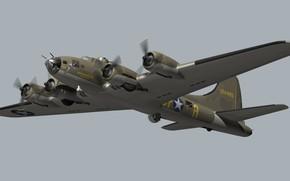 Картинка model, blender, Flying Fortress, B17