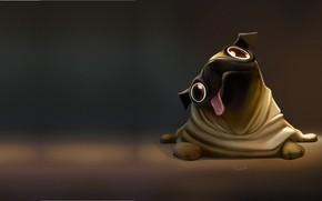 Картинка настроение, арт, мопс, собачка, mayan engelman, Stuffy Pug