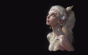 Обои девушка, арт, эльфийка, Spirit, Qi Wu, эльф, fantasy