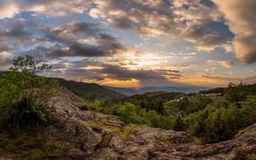 Картинка природа, восход, утро