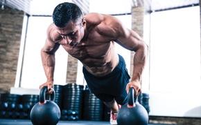 Картинка фитнес, muscle, мышцы, пресс, тренировка, атлет, воркаут, workout, fitness, бодибилдер, training, abs, weight, гири, Gym, …