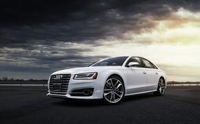 Обои White, Clouds, Audi, VAG