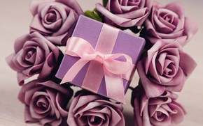 Обои цветы, flowers, Valentine's Day, любовь, розы, romantic, gift, roses, love, violet