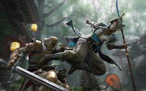 Картинка sword, game, armor, man, fight, ken, blade, samurai, shield, knight, helmet, spear, combat, For Honor