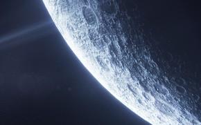 Картинка moon, planet, sci fi