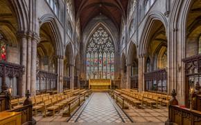 Обои interior, North Yorkshire, UK, Diliff, Choir, Ripon Cathedral