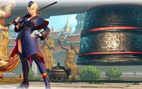 Картинка девушка, фон, игра, Street Fighter V