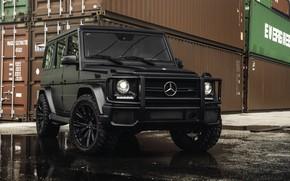 Обои G-class, Mercedes, Black, Briсk, Gelendwagen