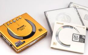 Обои Минидиск, компакт диски, Sharp, MD ST-501