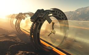 Картинка горы, тоннель, объект, аппарат, Accelerator