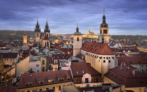 Картинка Прага, Чехия, архитектура, Old Town, Church of Our Lady before Tyn