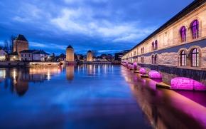 Картинка Франция, France, Strasbourg, Barrage Vauban et Ponts couverts