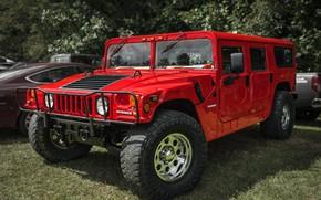 Картинка красный, внедорожник, Hummer