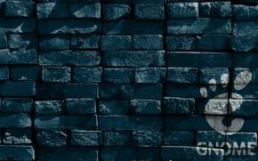 Картинка Linux, texture, bricks, Gnome, hi-tech, operating system