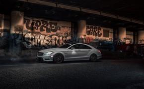 Обои Mercedes, Graphity, Light, AMG, W218, White, CLS63