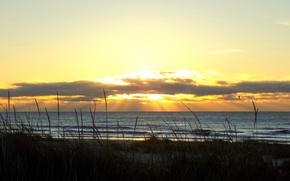 Картинка море, закат, облока, балтийское море