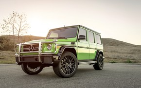 Обои Mercedes, G63, AMG, Green, W463