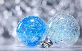 Картинка макро, фон, праздник, игрушки, новый год