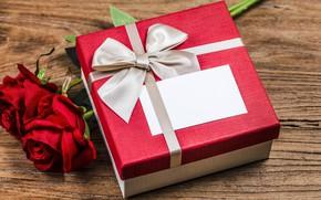 Картинка любовь, подарок, сердце, розы, букет, красные, red, love, romantic, hearts, Valentine's Day, gift, valentine, roses