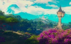 Обои The Witcher 3, пейзаж, природа