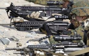 Картинка gun, soldier, weapon, army, rifle, helmet