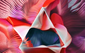 Обои линии, краски, пирамида, объем, треугольник