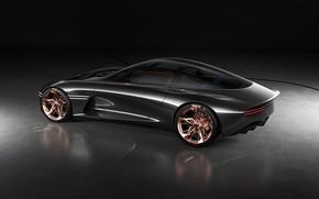 Картинка авто, серебро, чёрный фон, genesis essentia concept