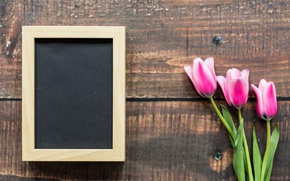 Обои love, wood, рамка, розовые тюльпаны, pink, romantic, тюльпаны, 8 марта, tulips, цветы