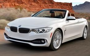 Обои дорога, BMW-7-series, поворот, горы, скорость