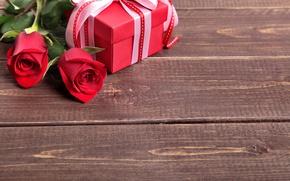 Картинка сердце, букет, red, love, heart, romantic, valentine's day, gift, roses, красные розы