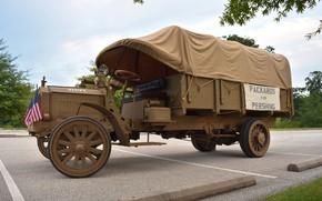Картинка ретро, грузовик, 1918, Packard Truck