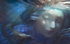 Картинка вода, девушка, water, art, League of Legends, lux, elementalist