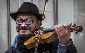 Картинка музыка, скрипка, человек