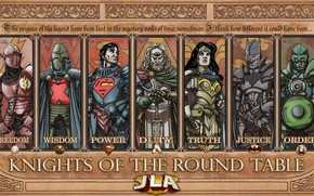 Картинка fantasy, Wonder Woman, Batman, armor, comics, Green Lantern, Superman, legends, knights, artwork, warriors, superheroes, fantasy …
