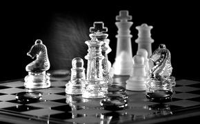 Обои шахматы, доска, фигуры, игра