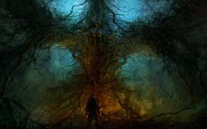 Картинка dark, nature, creepy, ChrisCold, creature, Wallhalla, everyoung