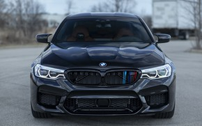 Картинка BMW, Front, Black, Sight, F90