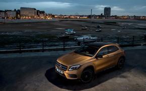 Обои 220d, GLA, 4MATIC, AMG Line, Mercedes-Benz, вечер
