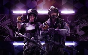 Обои Девушка, Оружие, Ubisoft, Спецназ, Экипировка, Ubisoft Entertainment, Каска, Ubisoft Montréal, Бронежилет, Tom Clancy's Rainbow Six: ...
