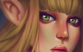 Картинка девушка, эльф, фэнтези, by alexiafelix