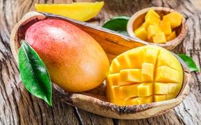 Обои доски, фрукт, манго, Fruit