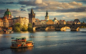 Картинка мост, Прага, Czech Republic, The Charles Bridge in Prague