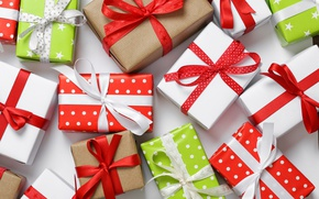 Обои подарки, box, celebration, holiday, bow, gifts