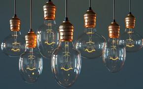 Обои арт, лампа, Bulb, Виктор Руденко