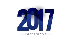 Картинка текст, новый год, объем, число, открытка, 2017