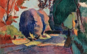 Обои пейзаж, картина, Люксембургский сад, Анри Матисс