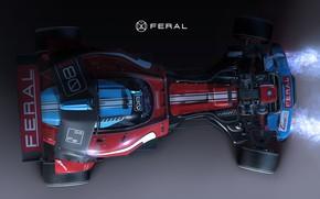 Картинка автомобиль, вид с верху, Igor Sobolevsky, Axiom Feral Racer
