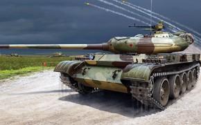 Картинка советский средний танк, Т-54-1, ТВ ВС СССР, объект 137